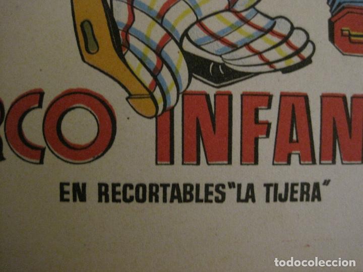Coleccionismo Recortables: CIRCO INFANTIL-RECORTABLE LA TIJERA-AÑO 1958-9 HOJAS MAS PORTADA-VER FOTOS-(V-15.421) - Foto 3 - 142599622