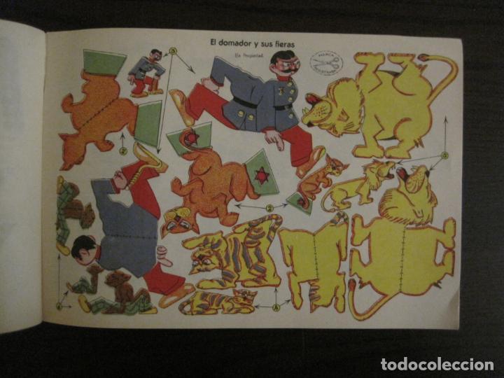 Coleccionismo Recortables: CIRCO INFANTIL-RECORTABLE LA TIJERA-AÑO 1958-9 HOJAS MAS PORTADA-VER FOTOS-(V-15.421) - Foto 8 - 142599622