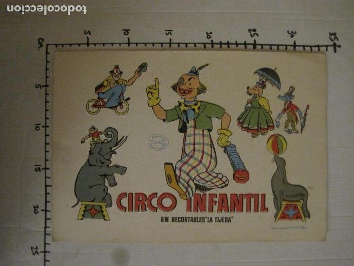 Coleccionismo Recortables: CIRCO INFANTIL-RECORTABLE LA TIJERA-AÑO 1958-9 HOJAS MAS PORTADA-VER FOTOS-(V-15.421) - Foto 15 - 142599622