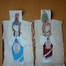 Coleccionismo Recortables: DISEÑO ORIGINAL TRAJE EGIPCIO . ROMEO Y JULIETA BEBE PARA VESTIR. ED. MUNTAÑOLA CA1920. Lote 142631678