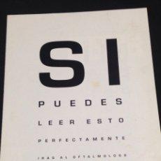 Coleccionismo Recortables: ANTIGUO RECORTE-PUBLICIDAD-O.N.C.E.,MIRA POR TUS OJOS.. Lote 143103436