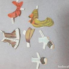 Coleccionismo Recortables: MUÑECOS RECORTABLES ANTIGUOS CARMEN PEDRITO VESTIDOS. Lote 143187066
