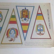 Coleccionismo Recortables: 13 RECORTABLES TORAY BANDERINES Y ESCUDOS Nº 164--165-166-167-168-169-170-171-172-173-174 -Y 175. Lote 147056346