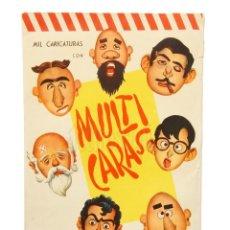 Coleccionismo Recortables: RECORTABLE MULTICARAS (MULTI CARAS) MIL CARICATURAS. PARECIDO A MR POTATO EN PAPEL MONTALBÁN AÑOS 60. Lote 150802554