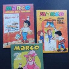 Coleccionismo Recortables: MARCO / 3 EJEMPLARES - Nº 2-3-4 / ARRANCA - PEGA Y COLOREA / BRUGUERA 1977 / SIN USAR. Lote 151874972