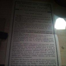 Coleccionismo Recortables: INTRUCCIONES DIORAMAS BARSAL. Lote 152153526