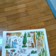 Coleccionismo Recortables: ANTIGUO RECORTABLE PESEBRE DE SALVATELLA NACIMIENTO, BELEN. Lote 152894950