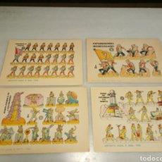 Coleccionismo Recortables: 4 RECORTABLES DEL ESPACIO.. Lote 153570698