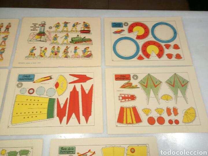 Coleccionismo Recortables: 8 recortables Bruguera. Modelos del espacio. - Foto 3 - 153571016