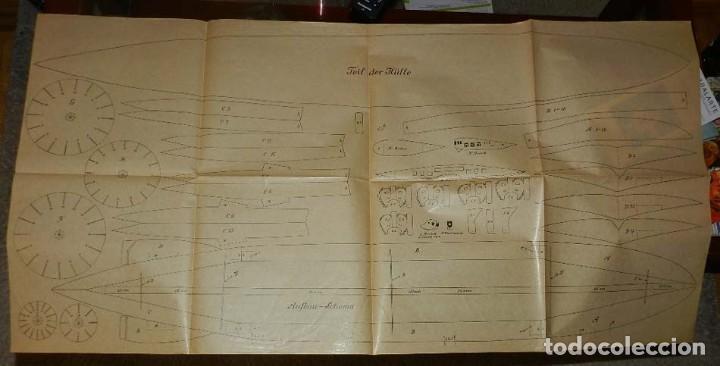 Coleccionismo Recortables: ANTIGUO MODELO DE ZEPPELIN, PATRON PARA LA CONSTRUCCION DE UNA AERONAVE DE 1,10 METROS DE LONGITUD, - Foto 3 - 154125866