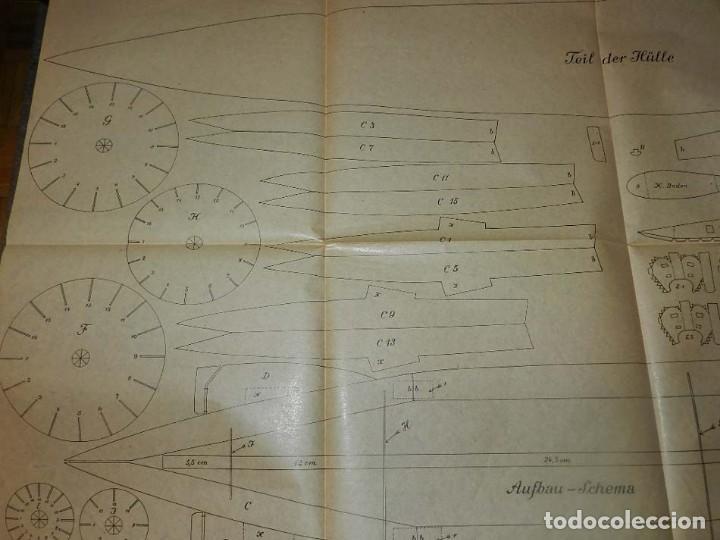 Coleccionismo Recortables: ANTIGUO MODELO DE ZEPPELIN, PATRON PARA LA CONSTRUCCION DE UNA AERONAVE DE 1,10 METROS DE LONGITUD, - Foto 4 - 154125866