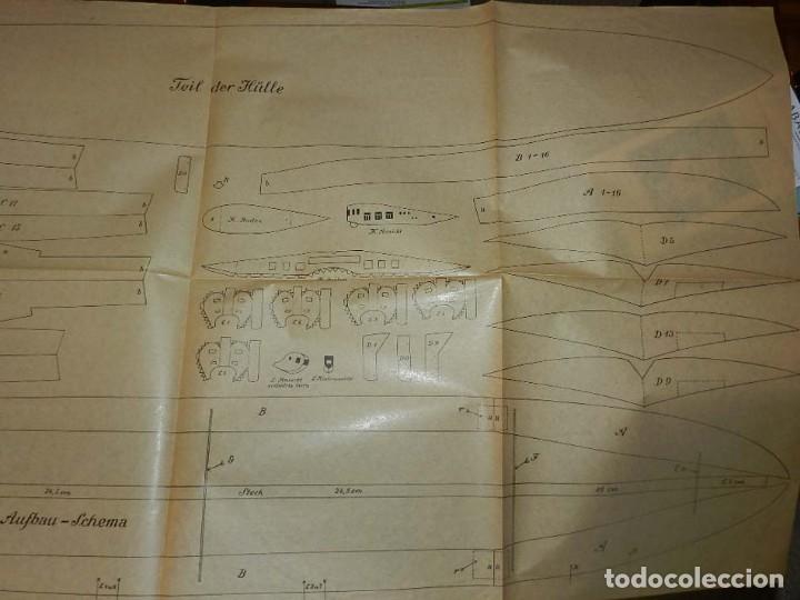 Coleccionismo Recortables: ANTIGUO MODELO DE ZEPPELIN, PATRON PARA LA CONSTRUCCION DE UNA AERONAVE DE 1,10 METROS DE LONGITUD, - Foto 5 - 154125866