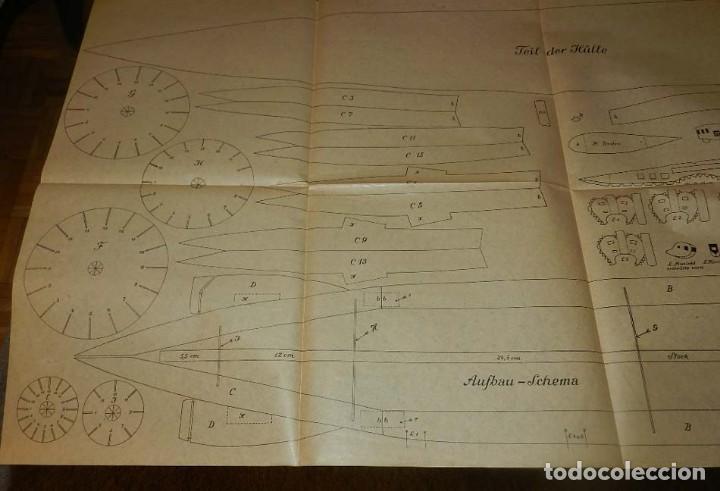 Coleccionismo Recortables: ANTIGUO MODELO DE ZEPPELIN, PATRON PARA LA CONSTRUCCION DE UNA AERONAVE DE 1,10 METROS DE LONGITUD, - Foto 7 - 154125866
