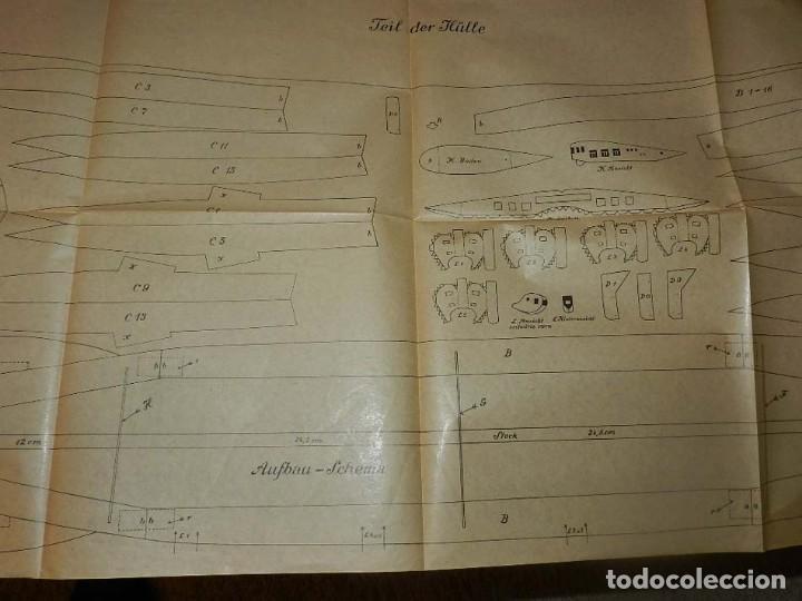 Coleccionismo Recortables: ANTIGUO MODELO DE ZEPPELIN, PATRON PARA LA CONSTRUCCION DE UNA AERONAVE DE 1,10 METROS DE LONGITUD, - Foto 8 - 154125866