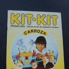 Coleccionismo Recortables: CARROZA / KIT KIT Nº 17 / TROQUELADO - PARA MONTAR Y JUGAR / ARGOS VERGARA 1980 / SIN USAR. Lote 205022315