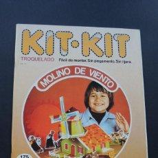 Coleccionismo Recortables: MOLINO DE VIENTO / KIT KIT Nº 18 / TROQUELADO - PARA MONTAR Y JUGAR / ARGOS VERGARA 1980 / SIN USAR. Lote 154539062