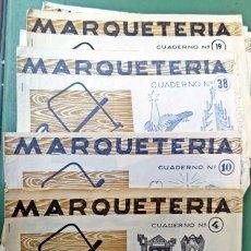 Coleccionismo Recortables: LOTE CUADERNOS DE MARQUETERÍA SALVATELLA. Lote 156813650