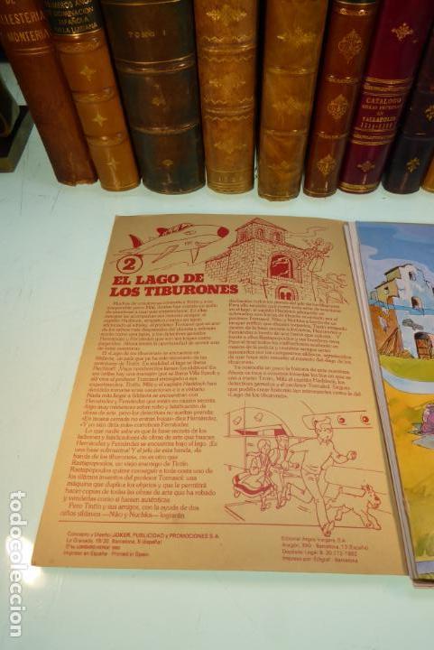 Coleccionismo Recortables: Interesante Kit de Tintin con transferibles y escenario. Tintin en el lago de los tiburones. 1982. - Foto 6 - 162624918