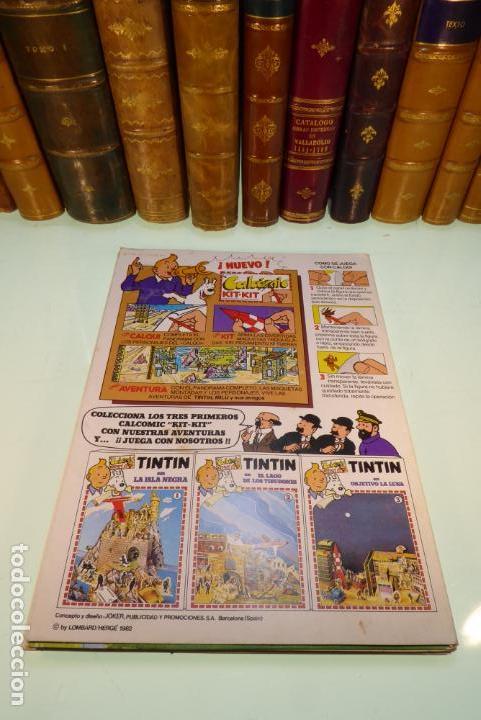 Coleccionismo Recortables: Interesante Kit de Tintin con transferibles y escenario. Tintin en el lago de los tiburones. 1982. - Foto 8 - 162624918