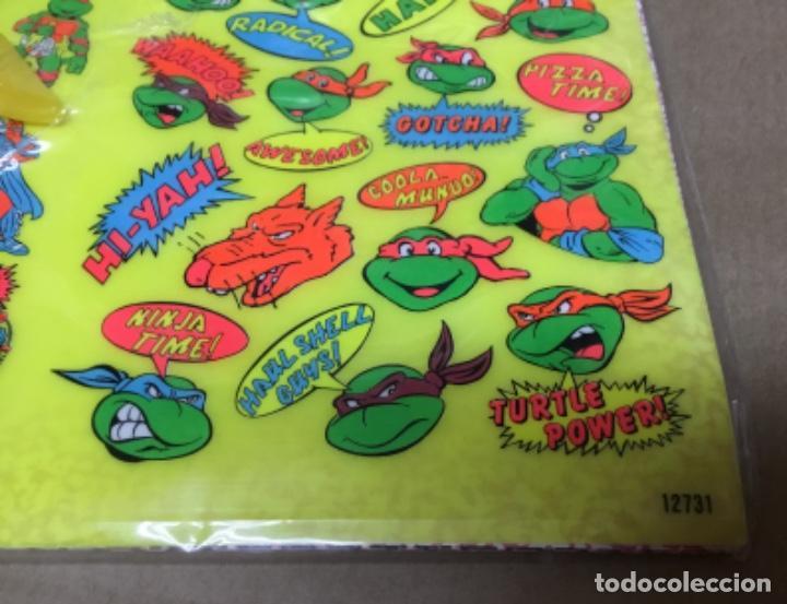 Coleccionismo Recortables: Tortugas ninja calcamonias y recordables años 90 blister - Foto 2 - 164575966