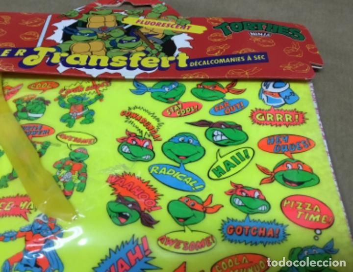 Coleccionismo Recortables: Tortugas ninja calcamonias y recordables años 90 blister - Foto 3 - 164575966