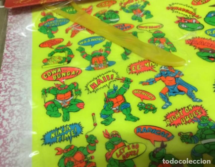 Coleccionismo Recortables: Tortugas ninja calcamonias y recordables años 90 blister - Foto 4 - 164575966