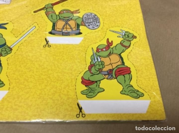 Coleccionismo Recortables: Tortugas ninja calcamonias y recordables años 90 blister - Foto 7 - 164575966