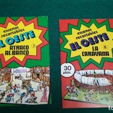 Coleccionismo Recortables: ESCENAS RECORTABLES DEL OESTE ATRACO AL BANCO Y LA CARAVANA NUEVOS VER FOTOS. Lote 165550094