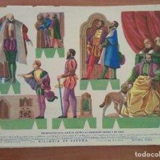 Coleccionismo Recortables: RECORTABLE PRESENTACIÓN DE D. JUAN DE AUSTRIA AL EMPERADOR CARLOS V EN YUSTE. Lote 201330013