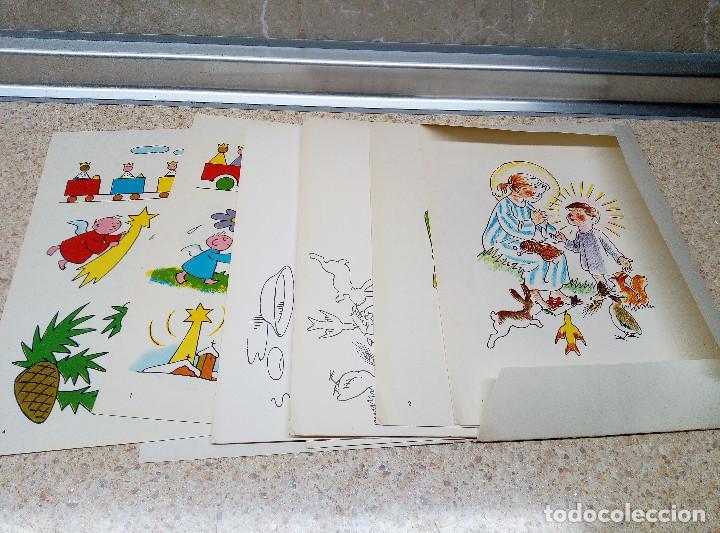 Coleccionismo Recortables: ACTIVIDADES MANUALES, DIBUJOS Y FELICITACIONES DE NAVIDAD, MIGUEL A. SALVATELLA ( NUEVO ) 1970. - Foto 3 - 166683434