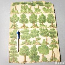 Coleccionismo Recortables: ANTIGUA HOJA O LÁMINA RECORTABLE DE PRINCIPIOS DEL SIGLO XX CON ÁRBOLES PARA DIORAMA. Lote 167102744