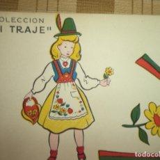 Coleccionismo Recortables: RARO RECORTABLE 2 LAMINAS DE 65X45 CM QUE PERMITEN CONFECCIONAR UNA TRAJE DE TIROLESA. Lote 168178872