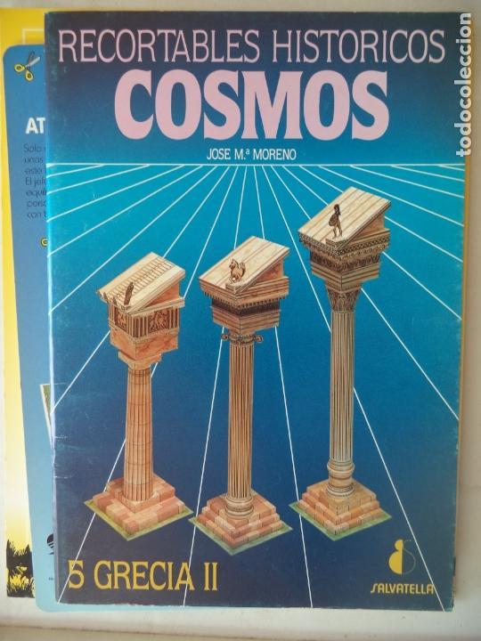 COSMOS RECORTABLES HISTORICOS 5 GRECIA 36 PAGINAS CON INSTRUCCIONES 31X21,5 CM (Coleccionismo - Otros recortables)