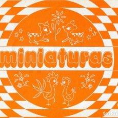 Coleccionismo Recortables: CUADERNO MINIATURAS -Nº 5 AÑO 1978-LAMINAS DE BORDADO. Lote 171433797