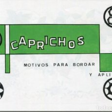 Coleccionismo Recortables: CUADERNO CAPRICHOS -Nº 193- -LAMINAS DE BORDADO. Lote 171434109