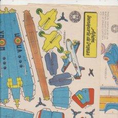 Coleccionismo Recortables: BRUGUERA. LOTE DE 2 RECORTABLES (21X29,5) TURISMO CANADIENSE Y AVIÓN TRANSPORTE DE TROPAS. AÑO 1959. Lote 171984919