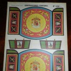 Coleccionismo Recortables: RECORTABLE PALUZIE, CONSTRUCCIONES, TARTANAS, Nº 1150 BIS, ESTAMPERIA ECONOMICA PALUZIE 1927 - 1931,. Lote 173367539