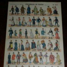 Coleccionismo Recortables: RECORTABLE PALUZIE, PERSONAJES DE TEATRO, EPOCA ACTUAL Nº 877, LIT. HIJO DE PALUZIE, MIDE 41 X 28,5 . Lote 173368678