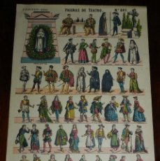 Coleccionismo Recortables: RECORTABLE PALUZIE, FIGURAS DE TEATRO, EPOCA ACTUAL Nº 861, LIT. HIJOS DE PALUZIE, MIDE 41 X 28,5 CM. Lote 173368770