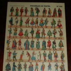 Coleccionismo Recortables: RECORTABLE PALUZIE, PESONAJES DE TEATRO, EPOCA ACTUAL Nº 858, LIT. HIJO DE PALUZIE, MIDE 41 X 28,5 C. Lote 173368869