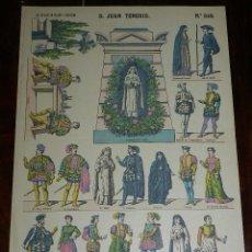 Coleccionismo Recortables: RECORTABLE PALUZIE, D. JUAN TENORIO, PERSONAJES DE TEATRO Nº 849, LIT. DE HIJOS DE PALUZIE, BARCELON. Lote 173369779