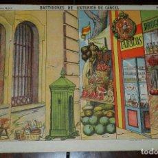 Coleccionismo Recortables: RECORTABLE PALUZIE, BASTIDORES DE EXTERIOR DE CARCEL Nº 510, ESTAMPERIA ECONOMICA PALUZIE, , MIDE 41. Lote 173370003