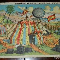 Coleccionismo Recortables: RECORTABLE PALUZIE, DECORACIONES DE TEATRO CAMPAMENTO MILITAR Nº 504, ESTAMPERIA ECONOMICA PALUZIE, . Lote 173370155