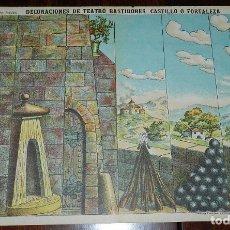 Coleccionismo Recortables: RECORTABLE PALUZIE, DECORACIONES DE TEATRO BASTIDORES CASTILLO O FORTALEZA Nº 501, ESTAMPERIA ECONOM. Lote 173370324
