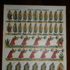Coleccionismo Recortables: RECORTABLE PALUZIE, EJERCITO MARROQUI INFANTERIA Nº 470, ESTAMPERIA ECONOMICA PALUZIE MIDE 41 X 28,5. Lote 173371893