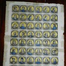 Coleccionismo Recortables: ANTIGUO RECORTABLE TIPO ALELUYA, AUCA, RETRATOS DE LOS REYES DE ESPAÑA, N. 62, MIDE 33,5 X 24,5 CMS.. Lote 173629119