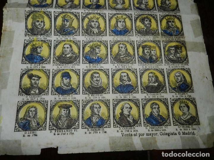 Coleccionismo Recortables: ANTIGUO RECORTABLE TIPO ALELUYA, AUCA, RETRATOS DE LOS REYES DE ESPAÑA, N. 62, MIDE 33,5 X 24,5 CMS. - Foto 3 - 173629119