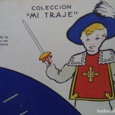 Coleccionismo Recortables: MOSQUETERO 2 LAMINAS DE 65X44 CM PERMITEN HACER UN TRAJE DE MOSQUETERO COLECCION MI TRAJE ED REGUE. Lote 173912210