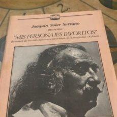 Coleccionismo Recortables: MIS PERSONAJES FAVORITOS SALVADOR DALI. Lote 174338129