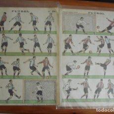 Coleccionismo Recortables: ANTIGUOS RECORTABLES DE FUTBOL Nº 384 Y 384 BIS. ESTAMPERIA ECONOMICA PALUZIE. Lote 174952638
